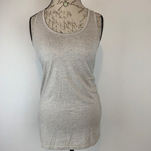C&C California Tank Top Shiny Silver Gold Sz M